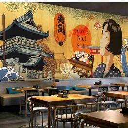 Vẽ tranh tường nhà hàng, quán ăn