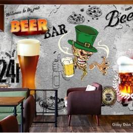 Vẽ tranh tường quán bar, Beer club