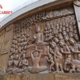 Thi công phù điêu trang trí đình chùa